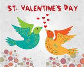 vektorové pozadí s ptáky, pro den svatého Valentýna.