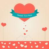 Valentine den vektor. Vektorové ilustrace.
