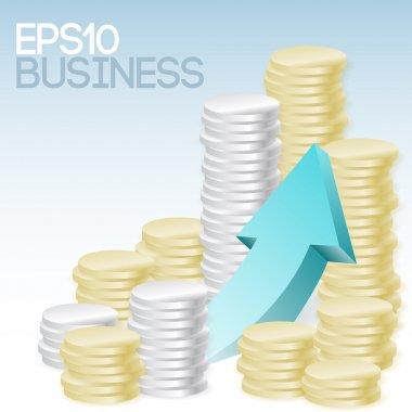 Vector business concept. Vector illustration. stock vector
