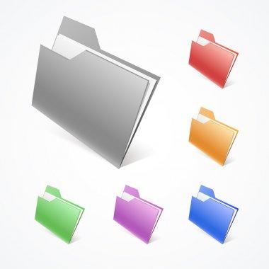 Vector Folders. Vector illustration. stock vector