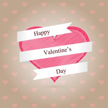 Valentine day background. Vector illustration. stock vector