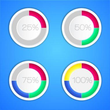 Percent vector illustration. Vector illustration. stock vector