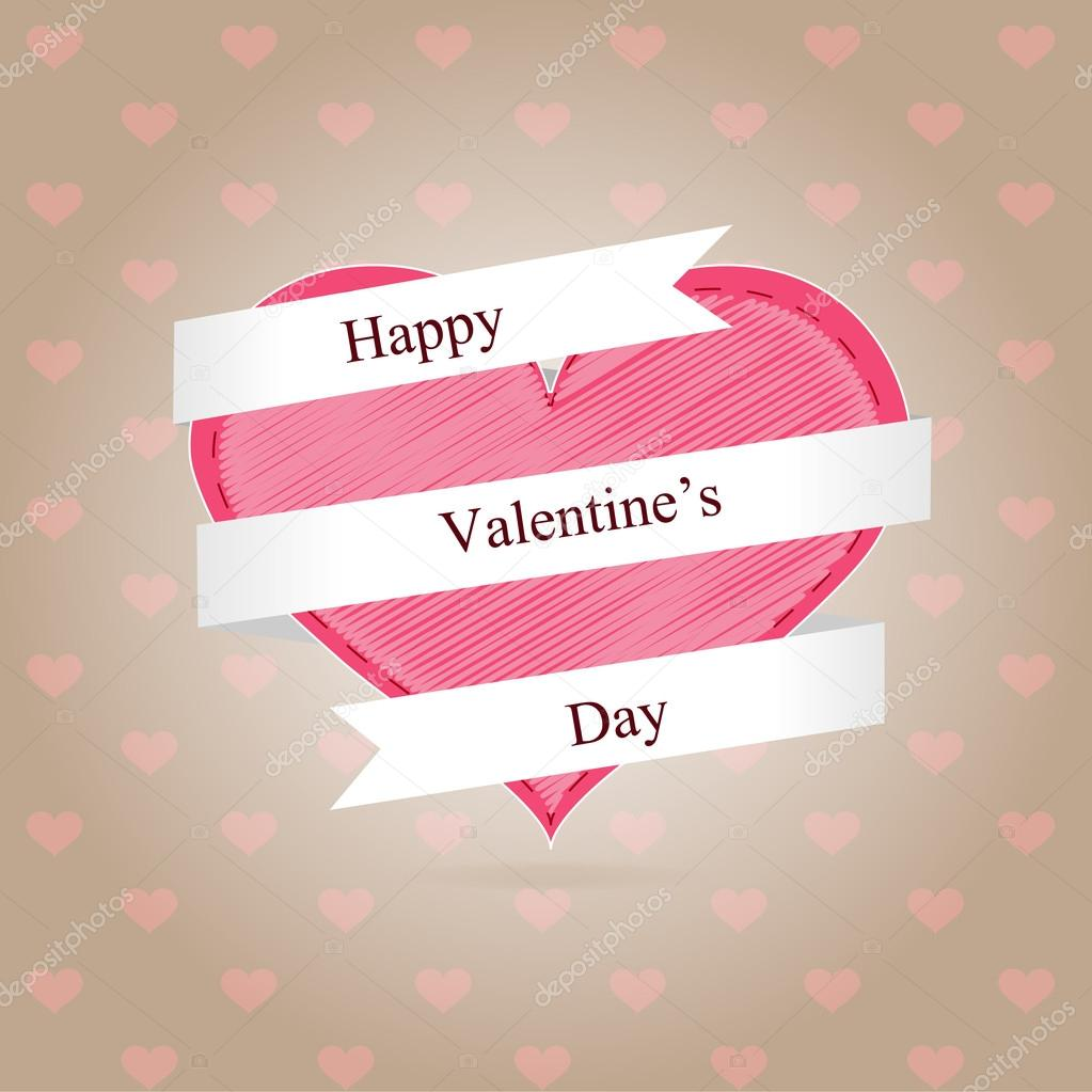 Valentine day background. Vector illustration. stock vector