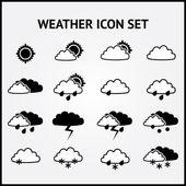 Vektor-Reihe von Wettersymbolen.