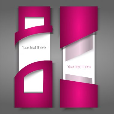 Vector pink banners. Vector illustration. stock vector