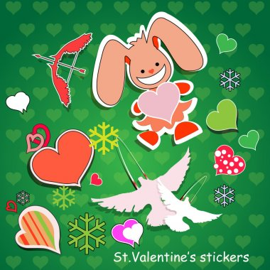 Vector background for Valentine's day. stock vector