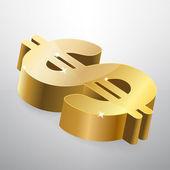 arany dollár jele. vektoros illusztráció.