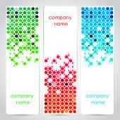vektor sor színes szalagok.