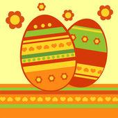 vektorové pozadí s velikonoční vajíčka.