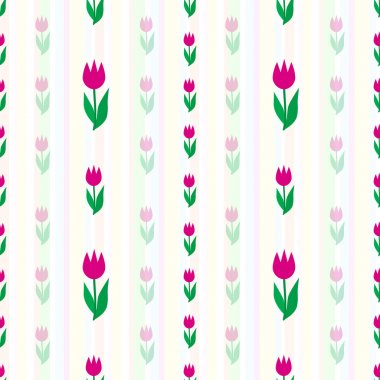 Vector background with tulips stock vector