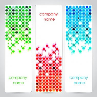 Vector set of colored banners. stock vector