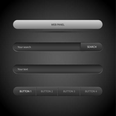 Web panel. Vector illustration. stock vector