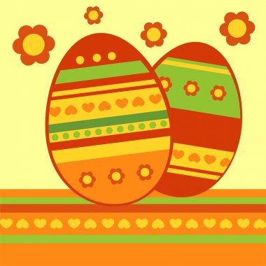 Vector background with easter eggs. stock vector