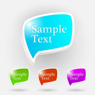Vector set of speech bubbles. stock vector