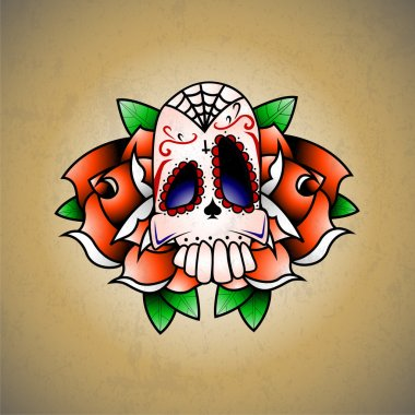 Funny scull. vector composition stock vector