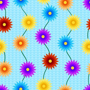 Vector background with flowers. stock vector