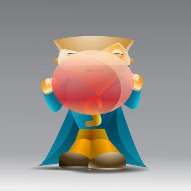 Cartoon man blowing a bubble gum. stock vector