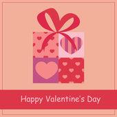 dárková krabička srdce pro Valentýna.