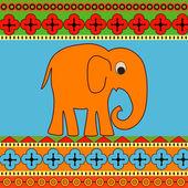 vektorové pozadí s slon.