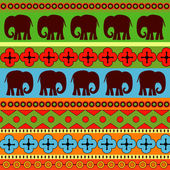 Vector background with elephants.