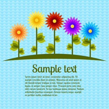 Vector background with flowers. Vector illustration. stock vector