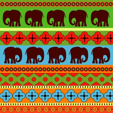 Vector background with elephants. stock vector
