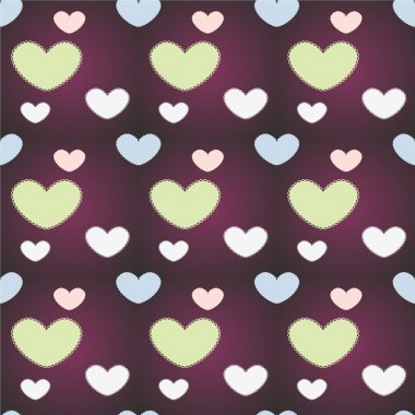 Vector background with hearts. stock vector