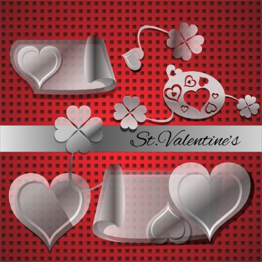 Vector set of elements for Valentine's day. stock vector