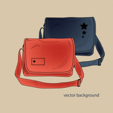 Vector illustration of a female bags. stock vector
