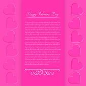 Valentin rózsaszín háttér. Vektoros illusztráció.