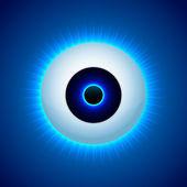 Vektor Farbe Auge Design. Vektorillustration.