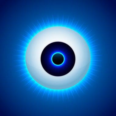 Vector color eye design. Vector illustration. stock vector