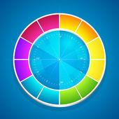 vektorové ilustrace barevné kolo.