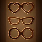 向量组的眼镜ラベルを設定すると、カラフルなベクトルのデザイン要素.