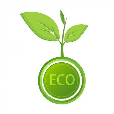 Vector eco icon. Vector illustration. stock vector