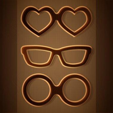 Vector set of glasses. stock vector