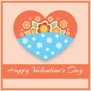 Vector greeting card with heart for Valentine's day. stock vector