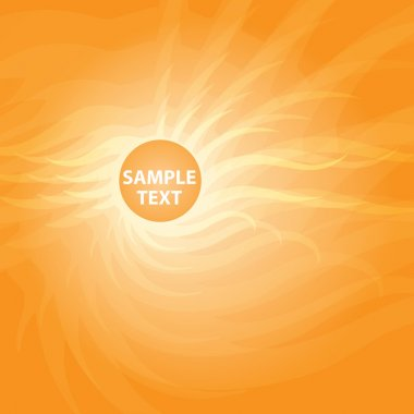 Orange sunny abstract background. stock vector