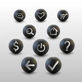 Vektor-Set von Web-Site-Symbolen.
