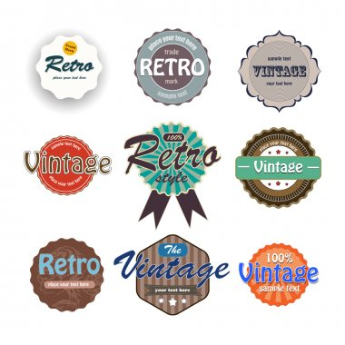Vector set of vintage labels. stock vector