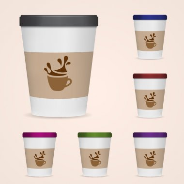 Paper Cups. Vector illustration. stock vector