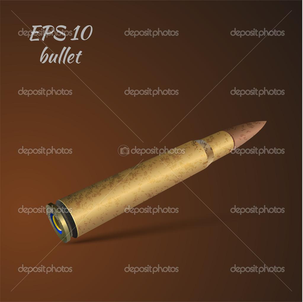 Vector illustration of a bullet. stock vector