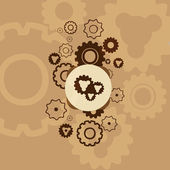 Abstract background with gears.