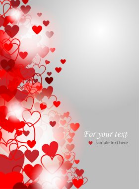 Valentines Day background - vector illustration stock vector