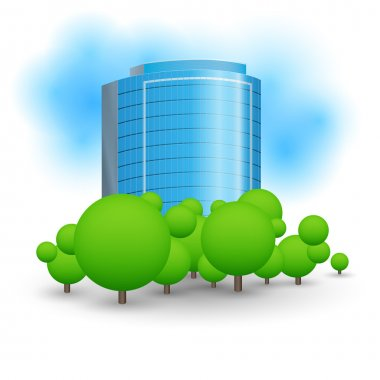 Skyscrapers business centre. Vector illustration. stock vector