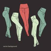 vektorové pozadí s kalhoty.