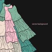 Vector háttér ruhák.