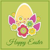 Boldog húsvéti üdvözlőlap - vektor-illusztráció