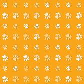 ilustrace zvířat tlapky tisknout na pozadí žlutá