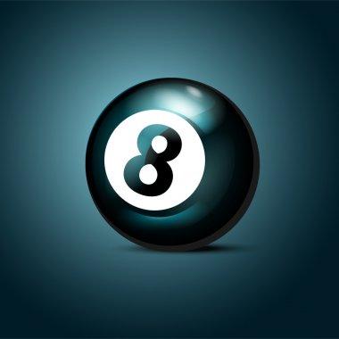 Billiards eight ball. Vector illustration.